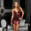 Star sequin mini dress