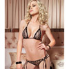 Lace strappy bra and g-string set