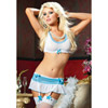 Romance bra and garter skirt set