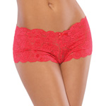 Red scalloped lace boyshort reviews
