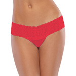 Red mesh thong with lace waist reviews
