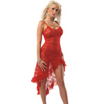 Red stretch lace gown reviews