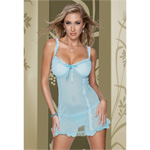Mesh ruffled chemise with g-string reviews