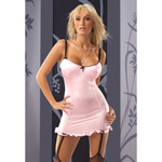 Lace up back gartered chemise reviews