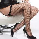 Black diamond net thigh high stockings reviews