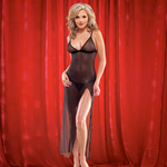 Mesh gown with high slit reviews