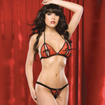 Peek-a-boo bikini top and thong reviews
