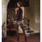 Lace opaque garter dress reviews