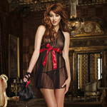 Black babydoll thong and gift bag reviews