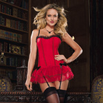 Lace trimmed corset with skirt reviews