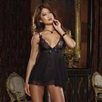 Black lace top babydoll and thong reviews