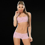 Baby pink lace panty and bra set reviews