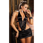 Black sleek two piece skirt set reviews