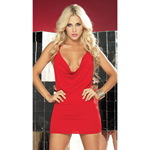Red strapped back dress reviews