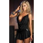 Black draping front dress reviews