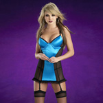 I heart you blue bustier dress set reviews