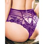 High waist lace up panty