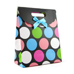 Multi-color polka dot gift tote medium