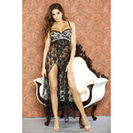 Nude affair lace long gown reviews