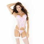 Pink garter bustier set reviews