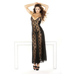 Black lace panel gown & g-string reviews