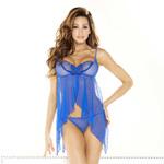 Butterfly babydoll & g-string royal blue reviews