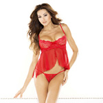 Underwire cami & thong red reviews