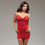 Red Novak mini dress reviews