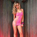 Mini dress with shredded side panels reviews