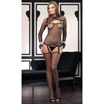 Industrial net cami garter with shrug and thigh highs set reviews