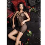 Fishnet mini dress with rhinestone detail reviews