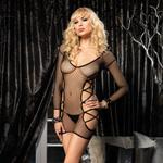 Long sleeved mini fishnet dress reviews