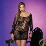 Long sleeved floral lace mini dress reviews