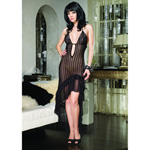 Crocheted lace long dress with deep V neck reviews