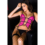 Opaque cut out top with garters reviews