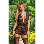 Forget Me Not wrap & g-string set queen size