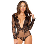 Deep V lace teddy reviews