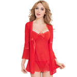 Elegance robe and chemise set