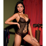 Shadow stripe and lace teddy reviews