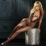 Crotchless deep V bodystocking reviews