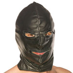 Leather hood with zip eyes and mouth reviews