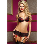 Naughty little secret bra, garter and panty reviews