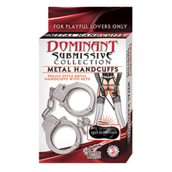 Police style handcuffs - Dominant submissive handcuffs - view #2