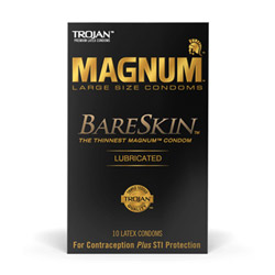 Male condom - Trojan magnum bareskin lubricated - view #1