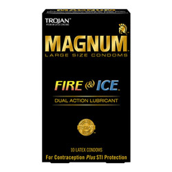 Male condom - Trojan magnum fire & ice lubricated - view #1