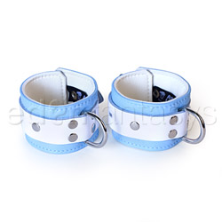 Wrist cuffs - Blue jaguar wrist cuffs - view #1
