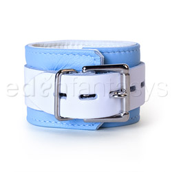 Wrist cuffs - Blue jaguar wrist cuffs - view #2
