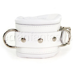 Wrist and ankle cuffs  - Luxe white wrist cuffs - view #2