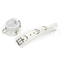 Luxe white ankle cuffs - wrist and ankle cuffs