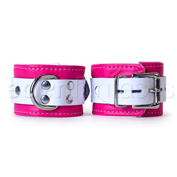 Wrist cuffs - Pink candy jaguar cuffs - view #2